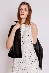 Amelie Silk Pearl Dress