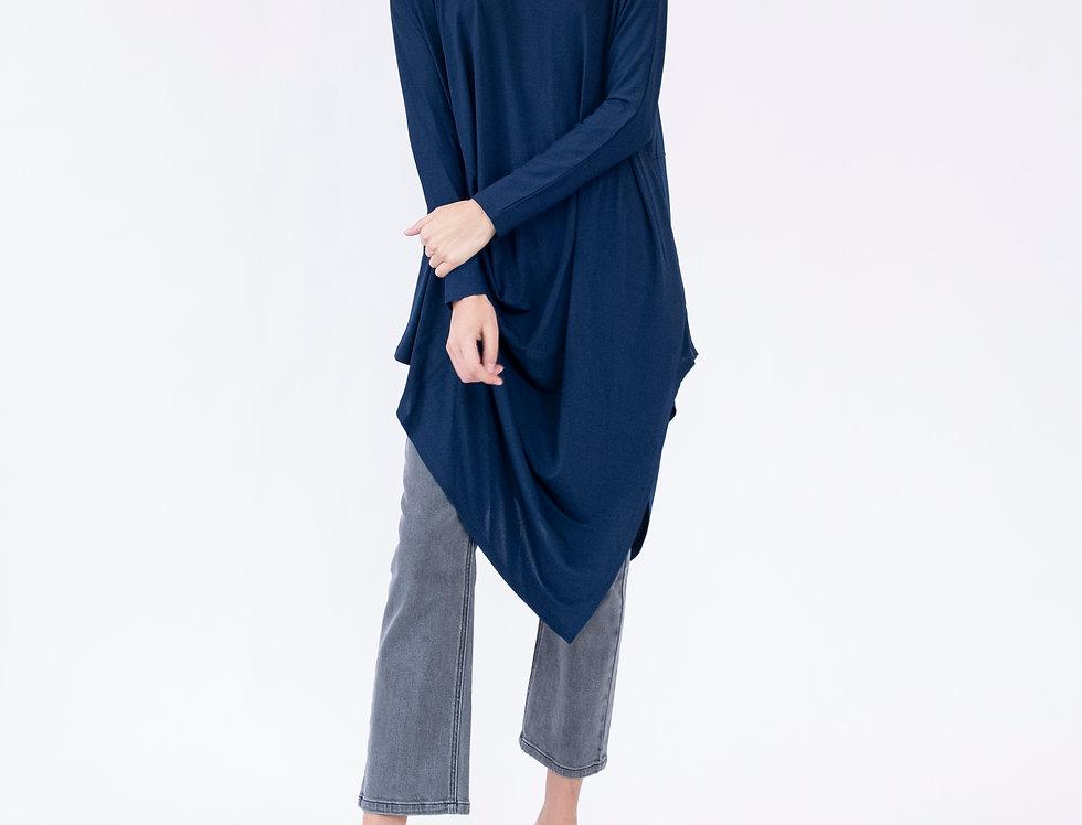 Alexandra Tunic Dress - Antique Blue