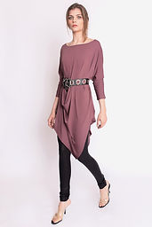 Alexandra Tunic Dress - Mauve