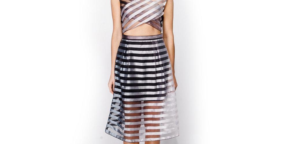 Ombre Illusion Midi Skirt