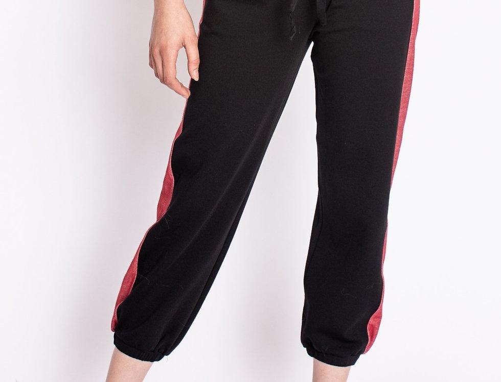 Tori Red Denim Stripe Track Pant