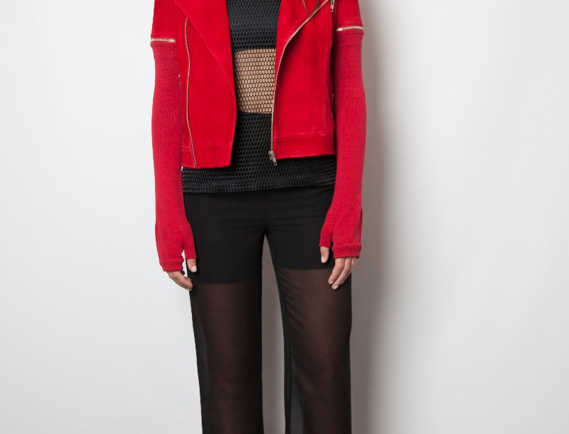 Covet Suede Moto/Red