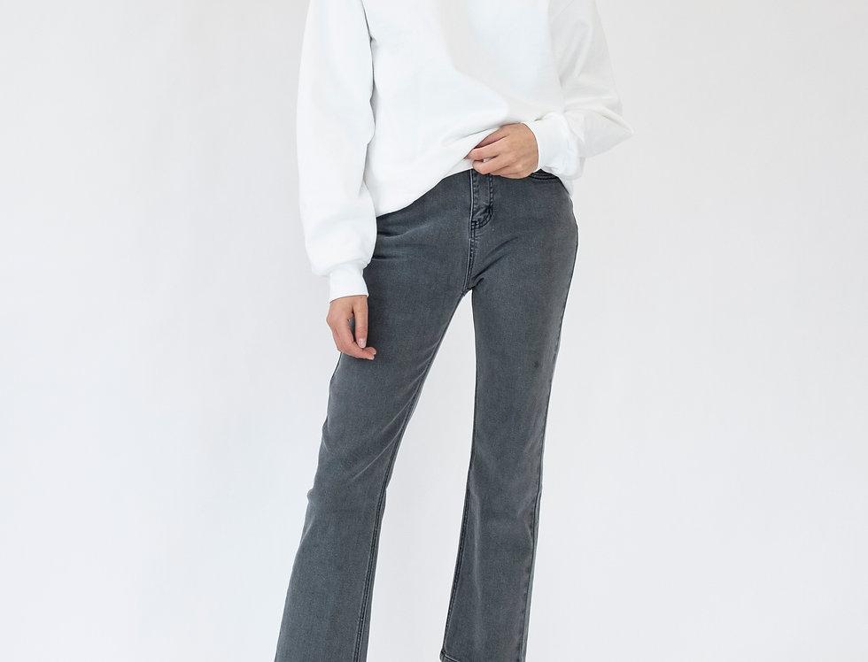 Leon Crop Jean - Vintage Grey
