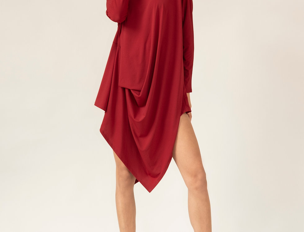 Alexandra Tunic Dress - Merlot