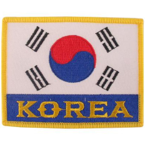 Korea Flags Patch