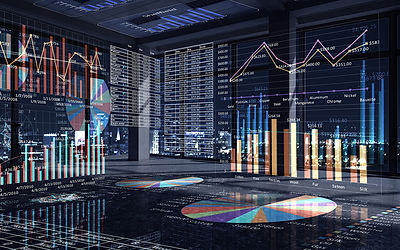 Stock Market Image with Charts