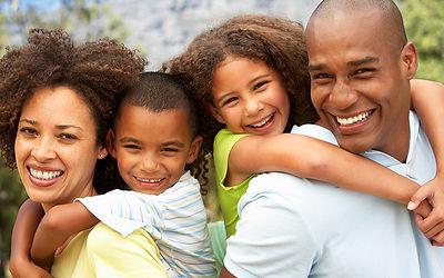 Beautiful African American Family