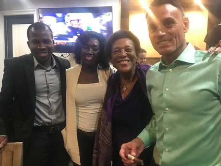 African Entrepreneurs and Shark Kevin Harrington at VIP Social