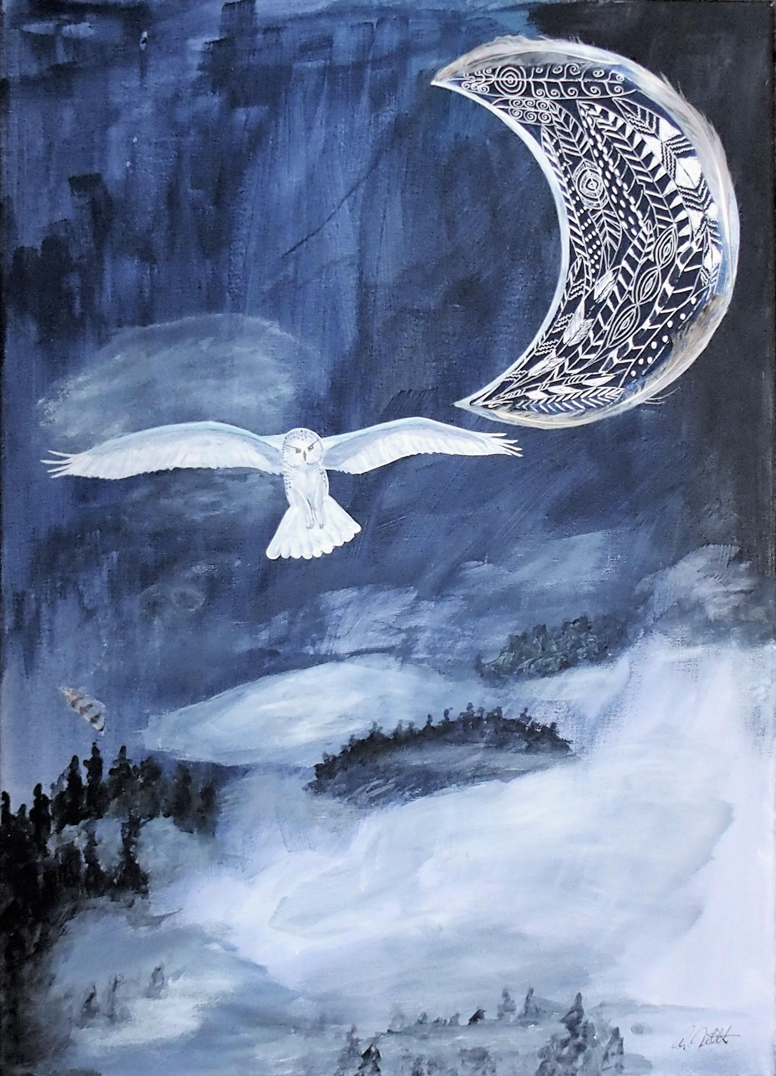 Schneeeule, 50 x 70 cm, verkauft