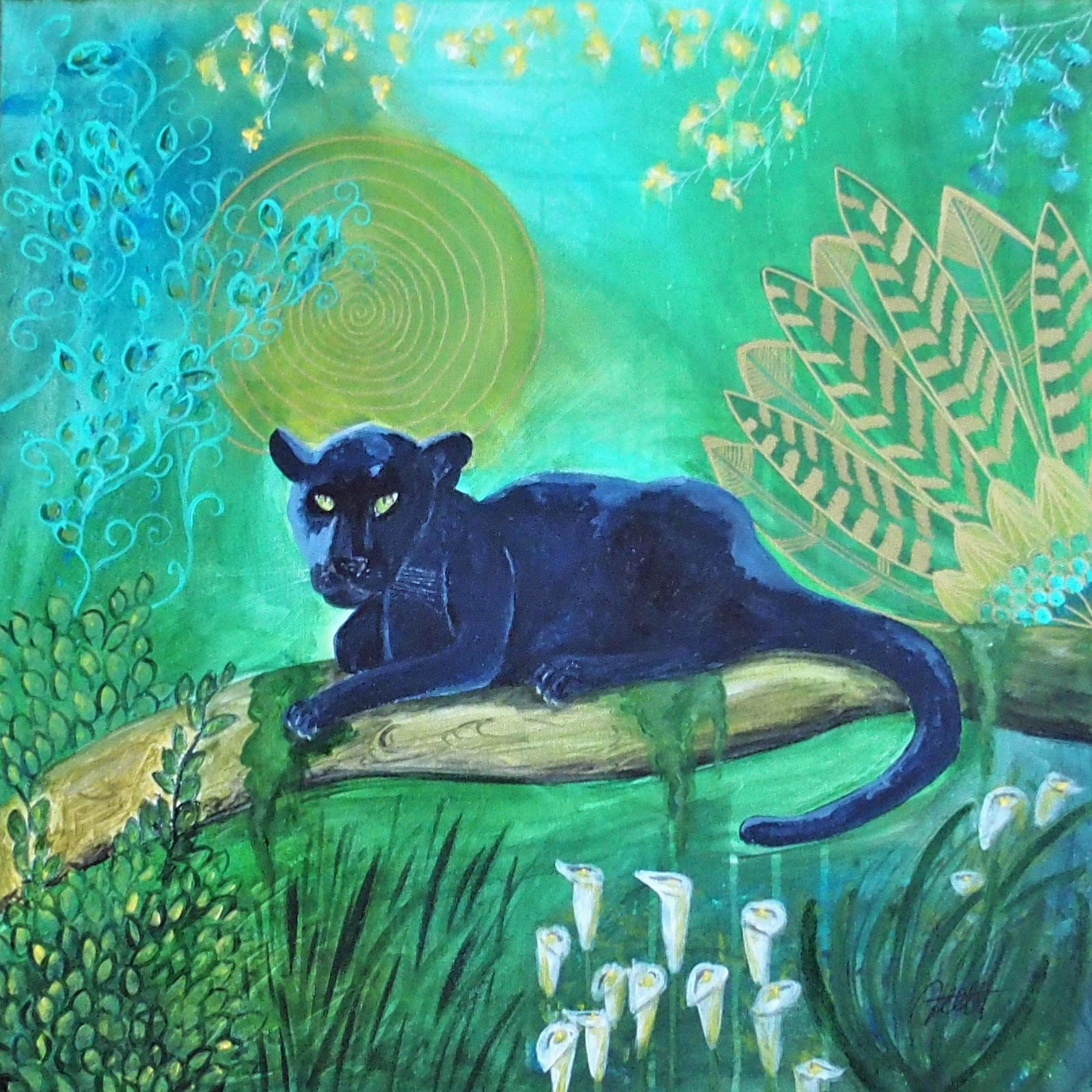 Panther 70 x 70 cm, verkauft