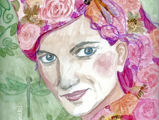 Wie man ein verhunztes Portrait rettet - oder: Ostara - die Frühlingsgöttin