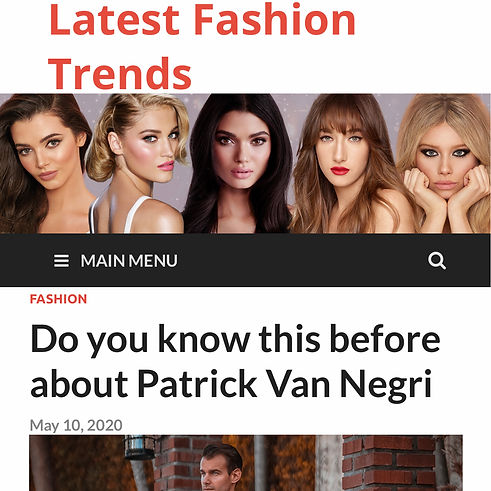 Latest Fashion Trends - Do you know this before about Patrick Van Negri