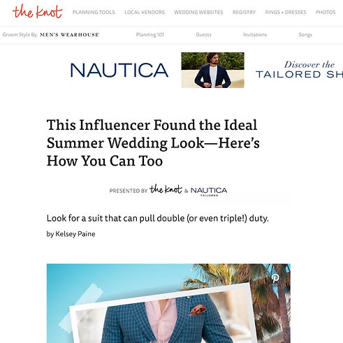 The Knot Patrick Van Negri - This Influencer Found The Ideal Summer Wedding Look – Here's How You Can Do It Too