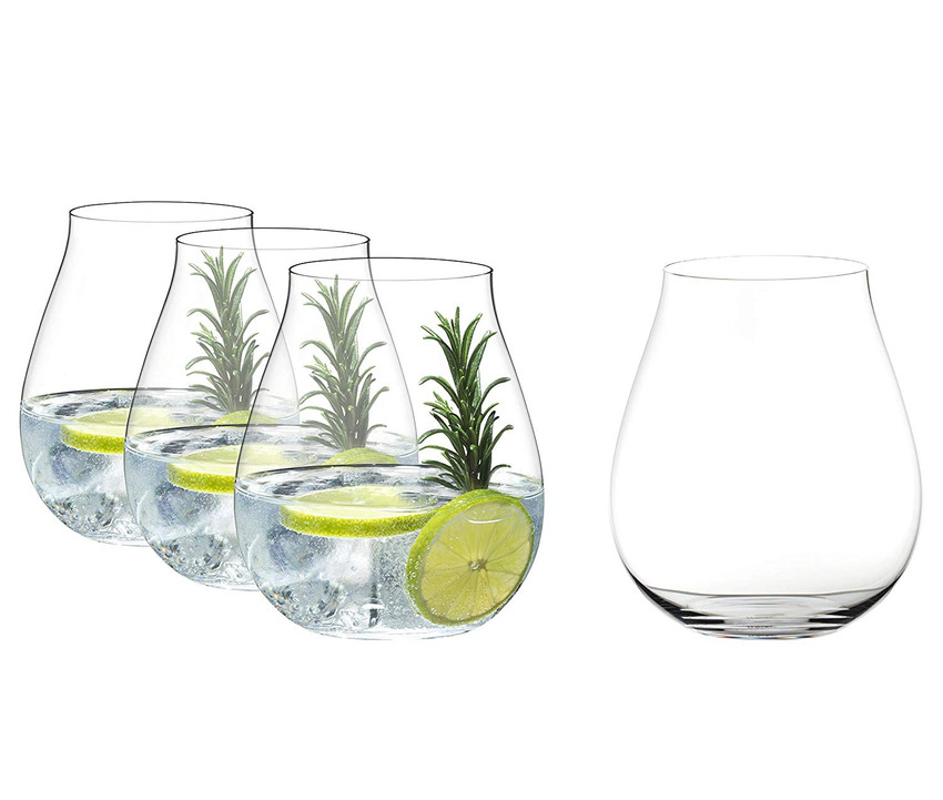 Set of 4 fine crystal gin tumblers