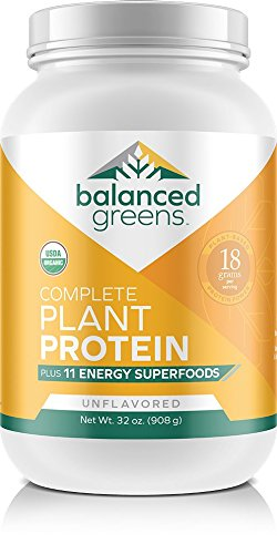 Plant Based Vegan Protein Powder Plus Green Superfoods