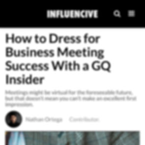 How to Dress for Business Meeting Success With a GQ Insider Patrick Van Negri Influencive