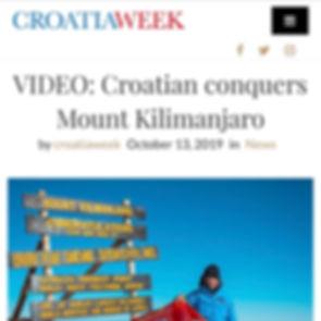CroatiaWeek - VIDEO: Croatian conquers Mount Kilimanjaro - Patrick Van Nergri - CroatiaWeek