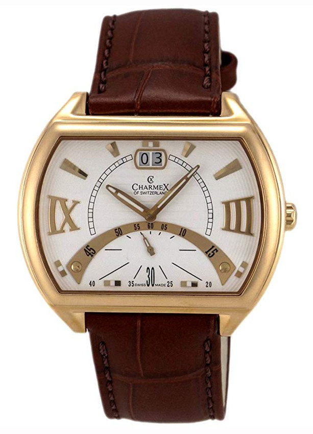 Charmex of Switzerland Monte Carlo Rose Gold Plated Steel Mens Watch