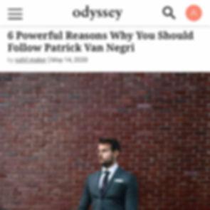Odyssey 6 Powerful Reasons Why You Should Follow Patrick Van Negri