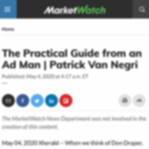 The Practical Guide from an Ad Man | Patrick Van Negri - MarketWatch