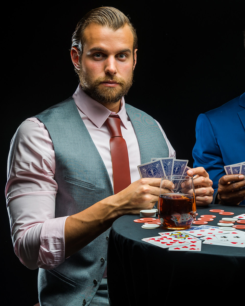 poker face outfit men Scotch whisky learn poker negotiation empathy life skills