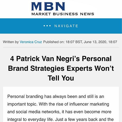 Market Business News - 4 Patrick Van Negri's Personal Brand Strategies Experts Won't Tell You