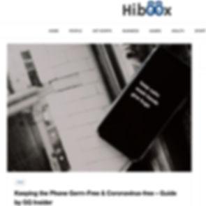 Hiboox Patrick Van Negri - Keeping the Phone Germ-Free & Coronavirus-free – Guide by GQ Insider