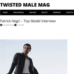 Twisted Male Mag Patrick Negri – Top Model Interview