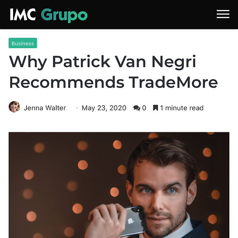 IMC Grupo - Why Patrick Van Negri Recommends TradeMore
