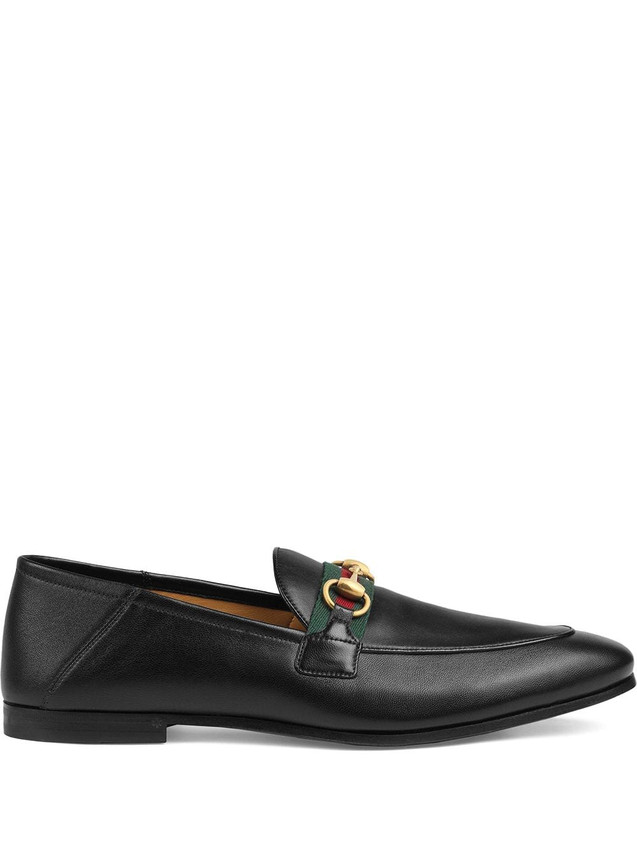 LEATHER HORSEBIT LOAFERS WITH WEB