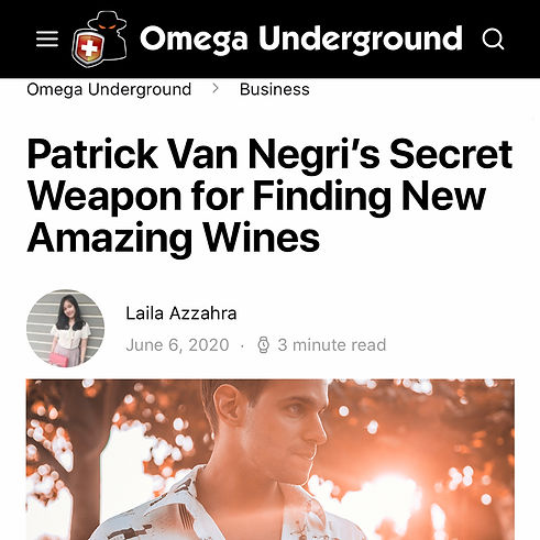 Omega Underground - Patrick Van Negri's Secret Weapon for Finding New Amazing Wines