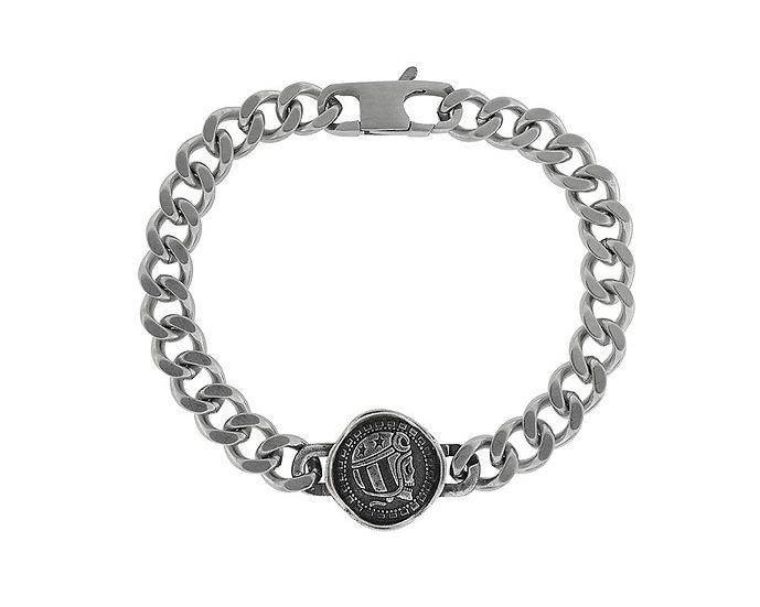 SKULL RIDER, Steel and Bronze Bracelet