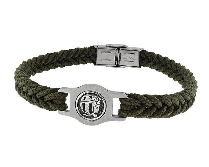 SKULL RIDER, Braided Polyester Bracelet with Logo