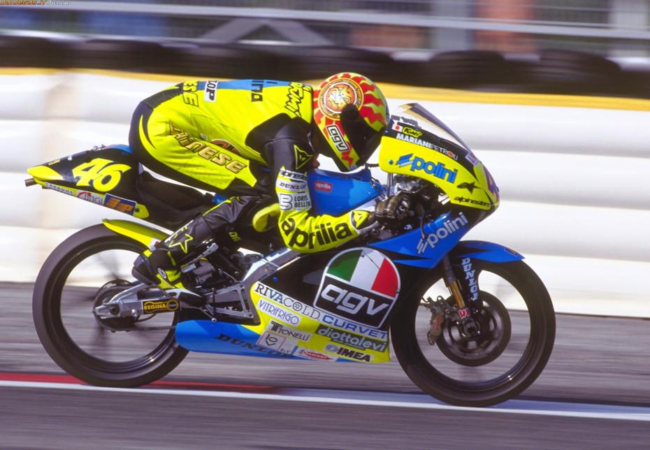 Desde 1996, Valentino Rossi no Mundial