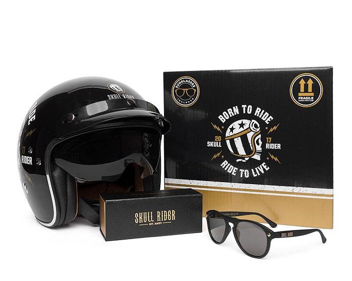 SKULL RIDER, capacete + óculos de Sol CITY HELMET