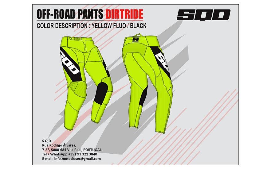 SQD, calças MX DIRTRIDE Basic