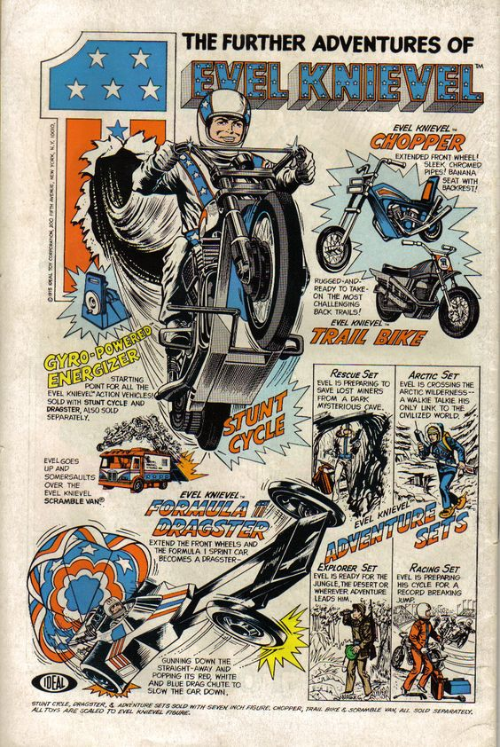 Evel Knievel, toys