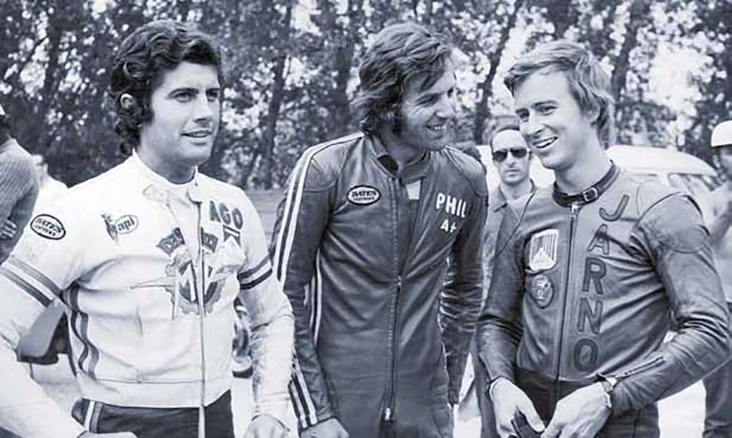 Jarno with Phil Read and Ago