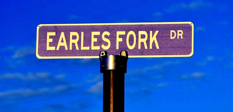 EARLES road sign