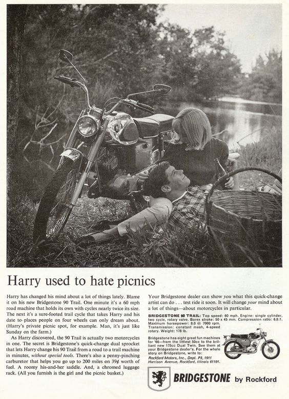 BRIDGESTONE, anuncio 'Harry used to hate picnics'