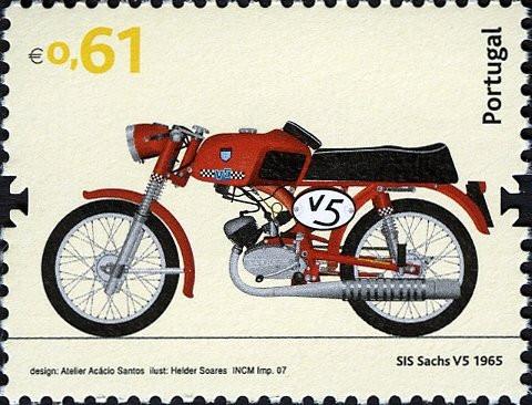 2007, motos de produção nacional em selos CTT