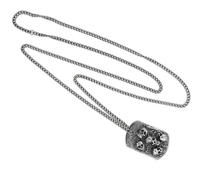 SKULL RIDER, Steel necklace