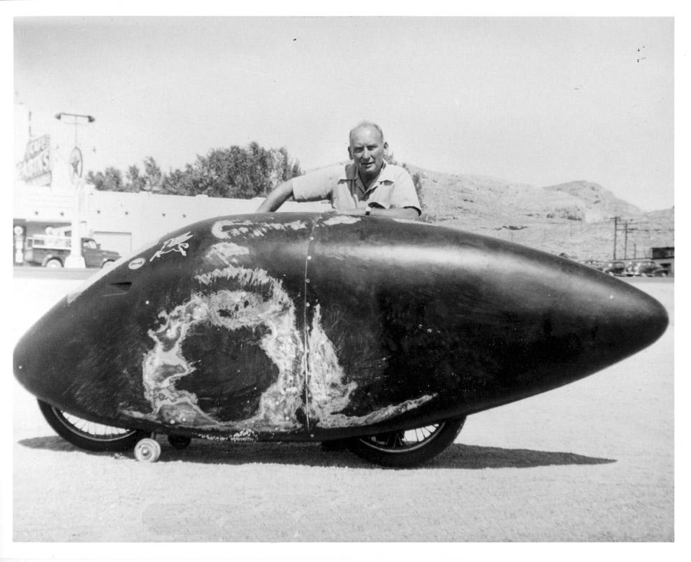 1950, Rollie Free, crash left side.
