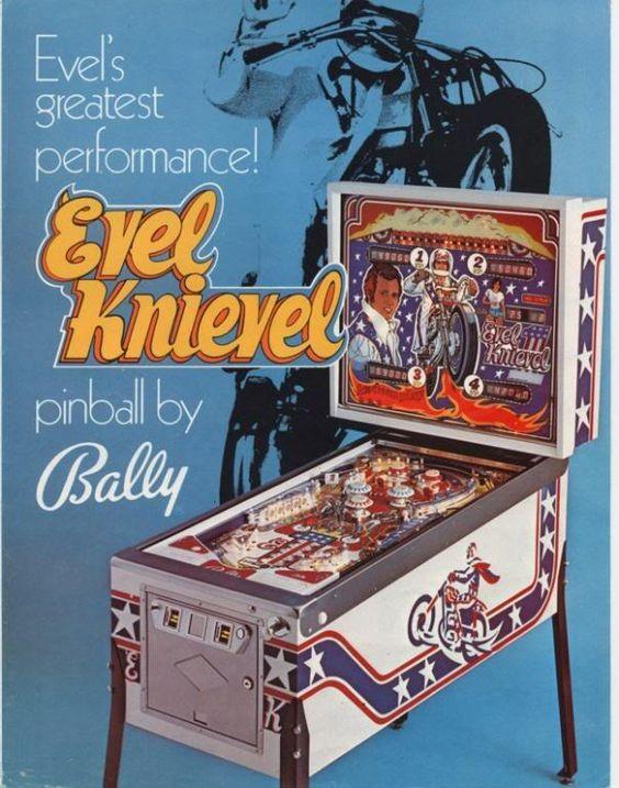 Evel Knievel, pinball, A