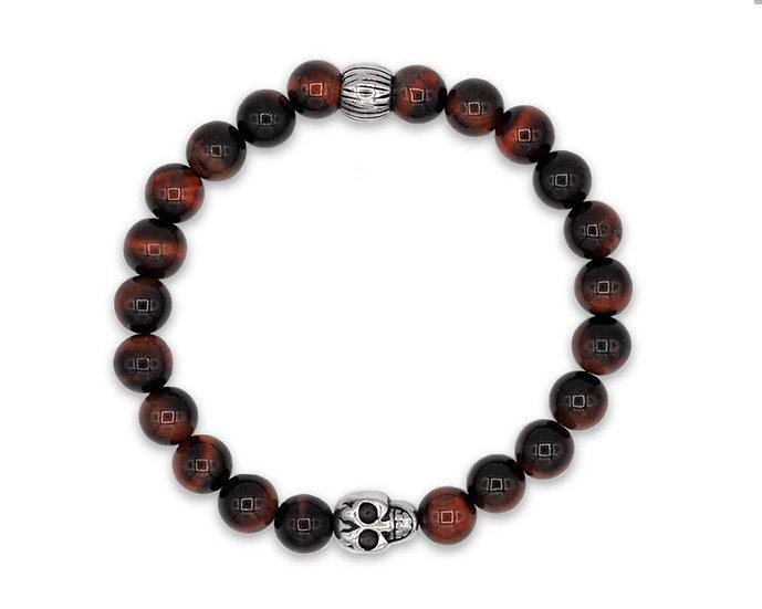 SKULL RIDER, Red Spheres Bracelet