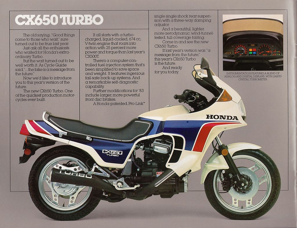 1983, HONDA CX650 Turbo
