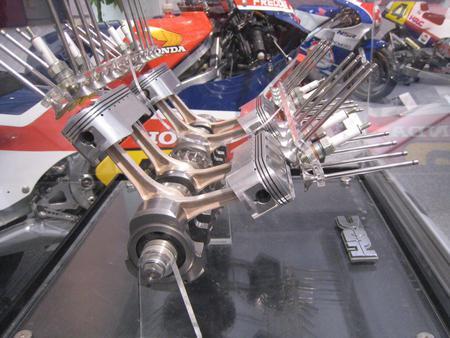 HONDA NR, pormenor motor