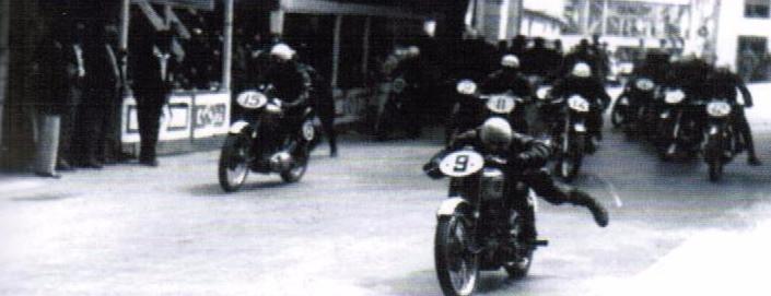 Partida da corrida de 350cc