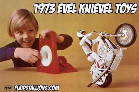 Evel Knievel, brinquedos, A