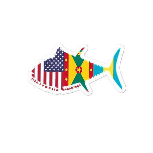 FDC Tuna Flag Sticker